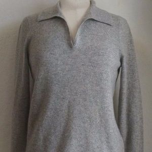 Charter Club Woman Collared 100% Cashmere Sweater
